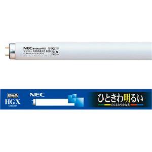 (まとめ)NEC蛍光ランプライフルックHGX直管ラピッドスタート形40W形3波長形昼光色FLR40SEX-D/M/36-X/4K-L1パック(4本)【×2セット】
