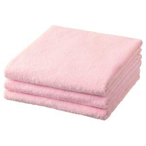 (まとめ) TANOSEE バスタオル ピンク 1パック(3枚) 【×3セット】