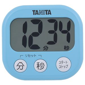 (まとめ) タニタ でか見えタイマー ブルー TD-384BL 1個 【×5セット】