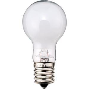 (まとめ)TANOSEEミニクリプトン電球60W形E17口金ホワイトタイプ1パック(6個)【×3セット】