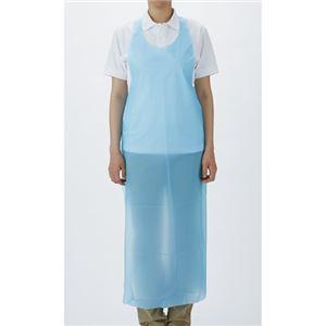 (まとめ) 宇都宮製作 ポリエプロン ディスポタイプ M ブルー 1パック(50枚) 【×3セット】