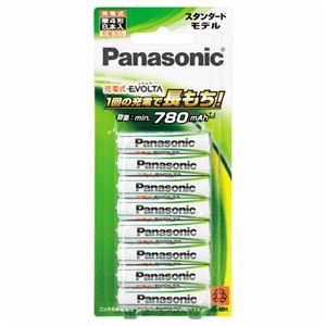 (まとめ)パナソニックニッケル水素電池充電式EVOLTAスタンダードモデル単4形BK-4MLE/8B(1パック:8本)【×2セット】