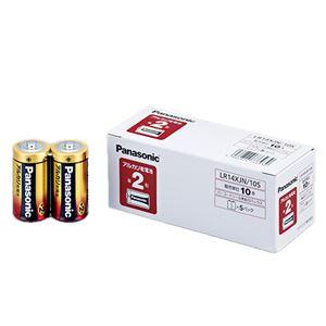 (まとめ)パナソニックアルカリ乾電池単2形LR14XJN/10S1パック(10本)【×4セット】