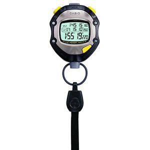 (まとめ) カシオ CASIO ストップウォッチ 1/1000秒計測 5気圧防水機能 ブラック HS-70W-1JH 1個 【×2セット】