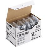 キングジム テプラ PRO テープカートリッジ 6mm 白/黒文字 SS6K-5P 1パック(5個)