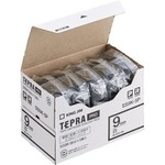 キングジム テプラ PRO テープカートリッジ 9mm 白/黒文字 SS9K-5P 1パック(5個)