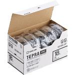 キングジム テプラ PRO テープカートリッジ 18mm 白/黒文字 SS18K-5P 1パック(5個)
