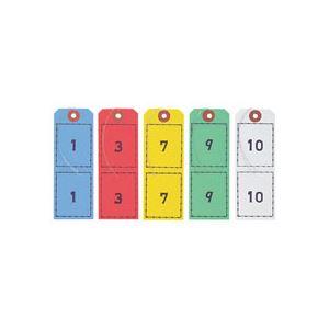 オープン工業連番荷札5色BF-1051セット(5組:各色1組)