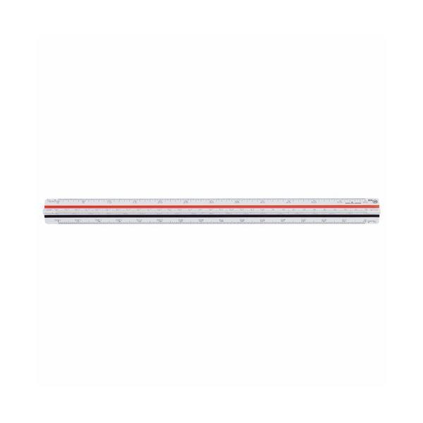 ライオン事務器 三角スケール 一般用 副尺付き 300mm No.505 1個 【×2セット】f00