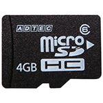 アドテック microSDHC 4GB Class10 SD変換アダプター付 AD-MRHAM4G/10T 1枚