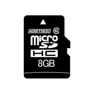 microSDHC 8GB Class10 SD変換Adapter付 - 拡大画像