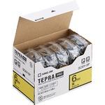 キングジム テプラ PRO テープカートリッジ パステル 6mm 黄/黒文字 エコパック SC6Y-5P 1パック(5個)