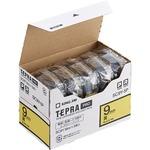 キングジム テプラ PRO テープカートリッジ パステル 9mm 黄/黒文字 エコパック SC9Y-5P 1パック(5個)