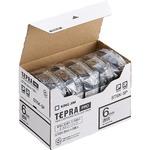 キングジム テプラ PRO テープカートリッジ 6mm 透明/黒文字 ST6K-5P 1パック(5個)