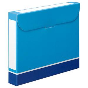 (まとめ)TANOSEEファイルボックスA4背幅53mm青1パック(5冊)【×5セット】