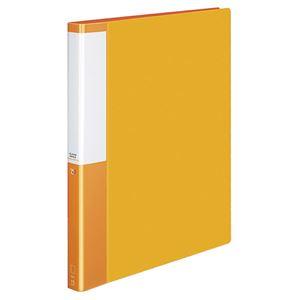 (まとめ) コクヨ クリヤーブック(クリアブック)(POSITY) 替紙式 A4タテ 30穴 15ポケット付属 背幅27mm オレンジ P3ラ-L720YR 1冊 【×5セット】
