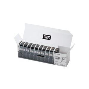 【訳あり・在庫処分】キングジム テプラ PRO テープカートリッジ 12mm 白/黒文字 業務用パック SS12K-10P 1パック(10個)