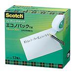 3M スコッチ メンディングテープ エコノパック 小巻 18mm×30m 紙箱入 業務用パック MP-18S 1パック(12巻)