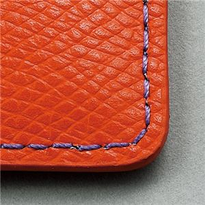 フロント 本革製IDネームカードホルダー ヨコ型 ストラップ付 オレンジ INCHD-O 1個 【×3セット】 h03