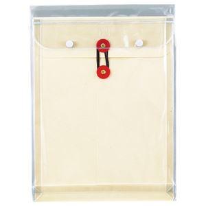 (まとめ) ピース マチヒモ付ビニール保存袋 レザック 角2 184g/m2 白 業務用パック 911-30 1パック(3枚) 【×5セット】