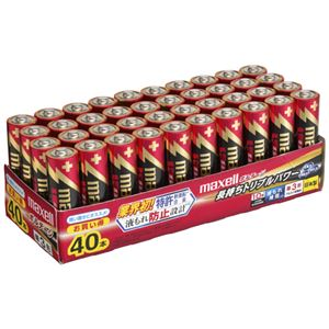 (まとめ)マクセルアルカリ乾電池ボルテージ単3形業務用パックLR6(T)40PTR1箱(40本)【×2セット】