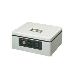 コクヨ 手提げ金庫ダイヤル付 A4 W360×D285×H150mm ライトグレー CB-11M 1台 - 拡大画像