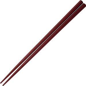 樹脂箸 六角 ワインレッド NH-02 1パック(10膳)