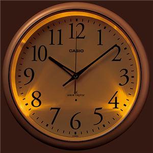 (まとめ) カシオ CASIO 電波掛時計 パールホワイト IQ-1050NJ-7JF 1台 【×2セット】