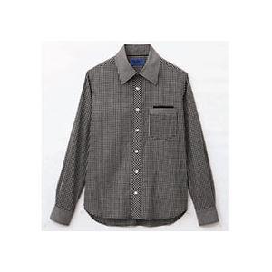 (まとめ) セロリー 大柄ギンガムチェック長袖シャツ SSサイズ ブラック S-63410-SS 1枚 【×2セット】