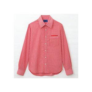 (まとめ) セロリー 大柄ギンガムチェック長袖シャツ LLサイズ レッド S-63413-LL 1枚 【×2セット】