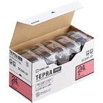 キングジム テプラ PRO テープカートリッジ パステル 24mm 赤/黒文字 SC24R-5P 1パック(5個)