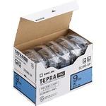 キングジム テプラ PRO テープカートリッジ パステル 9mm 青/黒文字 エコパック SC9B-5P 1パック(5個)