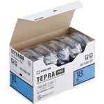 キングジム テプラ PRO テープカートリッジ パステル 18mm 青/黒文字 SC18B-5P 1パック(5個)