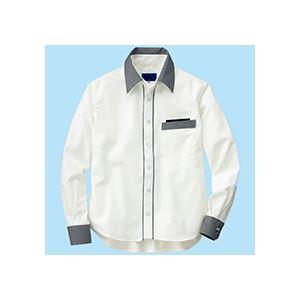 (まとめ) セロリー 長袖シャツ(ユニセックス) Mサイズ ホワイト S-63418-M 1枚 【×2セット】