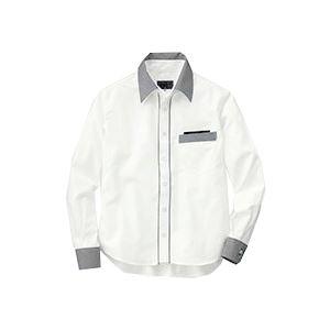 (まとめ) セロリー 長袖シャツ(ユニセックス) 3Lサイズ ホワイト S-63418-3L 1枚 【×2セット】