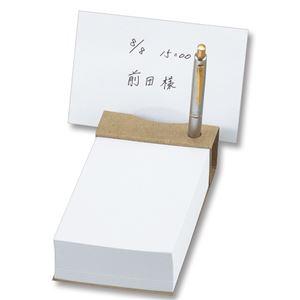 (まとめ)TANOSEEツインペン立てメモクラフト表紙天のりとじ1セット(10冊)【×2セット】