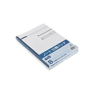 (まとめ) TANOSEE ノートブック セミB5 B罫6mm 30枚 1セット(50冊:10冊×5パック) 【×2セット】