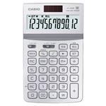 (まとめ) カシオ CASIO デザイン電卓 12桁 ジャストタイプ ホワイト JF-Z200-WE-N 1台 【×5セット】