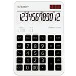 エルシーメイト電卓 12桁 セミデスクタイプ EL-BH60-X