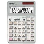 シャープ SHARP 実務電卓 12桁 セミデスクタイプ CS-S952-CX 1台