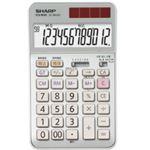 シャープ SHARP 実務電卓 12桁 ナイスサイズタイプ EL-N942-CX 1台