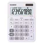 (まとめ) カシオ CASIO カラフル電卓 10桁 ミニジャストタイプ ピュアホワイト MW-C11A-WE-N 1台 【×5セット】