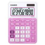 (まとめ) カシオ CASIO カラフル電卓 10桁 ミニジャストタイプ ベイビーピンク MW-C11A-PK-N 1台 【×5セット】