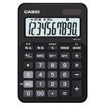(まとめ) カシオ CASIO カラフル電卓 10桁 ミニジャストタイプ スマートブラック MW-C12A-BK-N 1台 【×5セット】