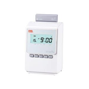 マックス タイムレコーダー ホワイト ER-110S5W 1台 - 拡大画像