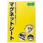 (まとめ) TANOSEE マグネットカラーシート ワイド 300×200×0.8mm 黄 1セット(10枚) 【×2セット】