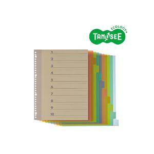 (まとめ)TANOSEE インデックス(PP) A4タテ 4・30穴 10山1組 20パック