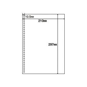 (まとめ)マルチプリンタ帳票(FSC森林認証紙) A4白紙30穴 100枚入×5冊 h01