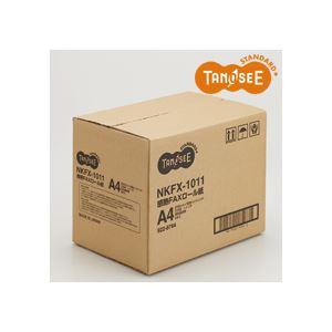 (まとめ)TANOSEE 感熱FAXロール紙 210mm×100m×1インチ 表発色 6本 h01