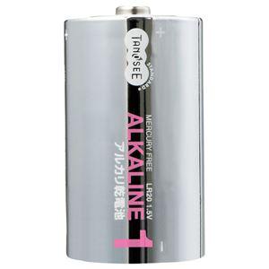 (まとめ)TANOSEEアルカリ乾電池単1形1セット(10本:2本×5パック)【×3セット】
